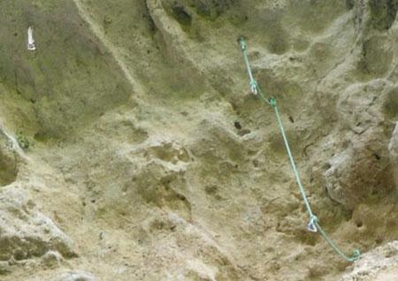 Tocos de cordas para criar mais pontos de ancoragem