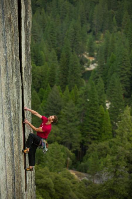 Rob Pizem, Wheat Thin 5.10c, Yosemite - Andrew Burr Photography
