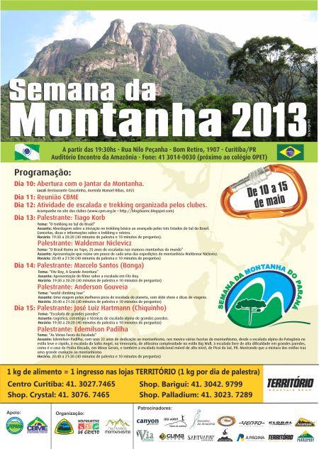 CARTAZ SEMANA DA MONTANHA 2013